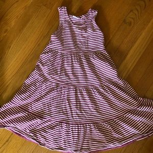 Hanna Andersson striped twirly dress size 120